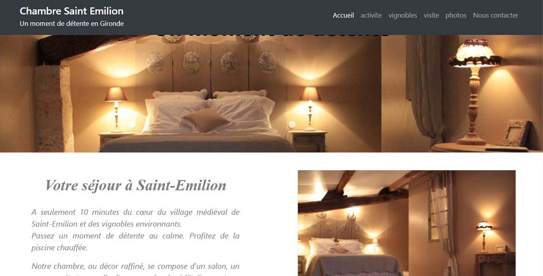 creation site internet bordeaux web creation chambre saint emilion