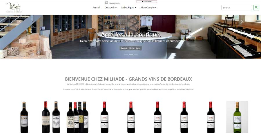 creation bordeaux web creation maison Milhade