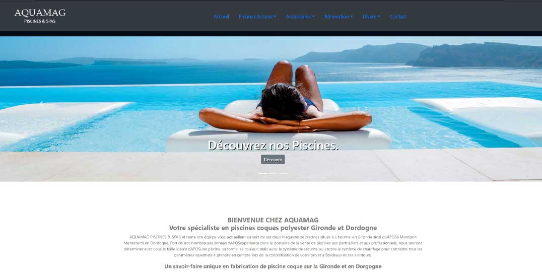 creation site internet bordeaux web creation Aquamag